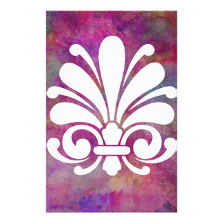 Colorful Floral Symbol Modern Design Customized Stationery