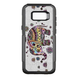 Colorful Floral Tribal Elephant Illustration OtterBox Commuter Samsung Galaxy S8+ Case