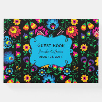 Colorful Floral Wedding Guest Book