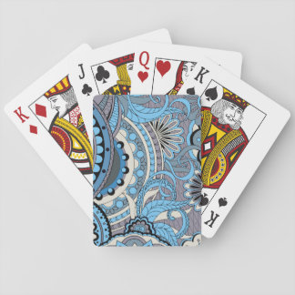 colorful floral zen pattern with sends them poker deck
