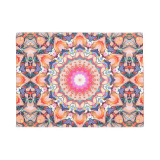 Colorful Flower Abstract Doormat