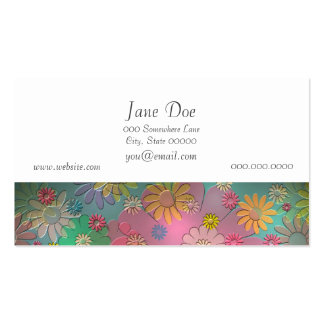 Colorful Flower Art Business Card