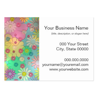 Colorful Flower Art Business Card Templates
