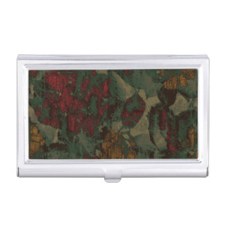 Colorful flower camouflage pattern business card holders