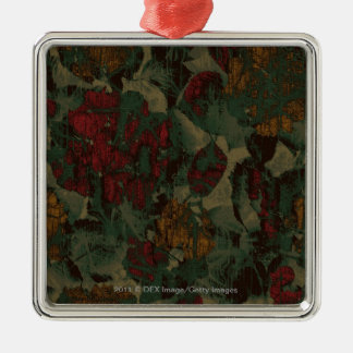 Colorful flower camouflage pattern christmas ornament