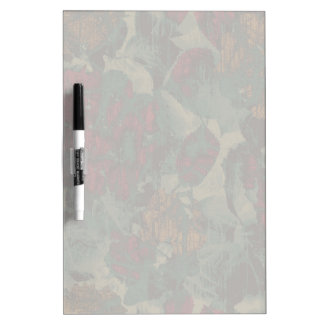 Colorful flower camouflage pattern dry erase board