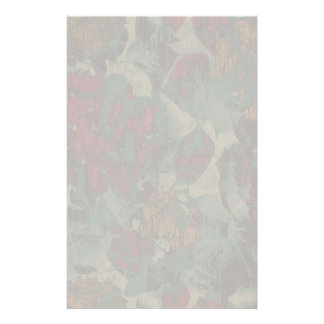 Colorful flower camouflage pattern personalized stationery
