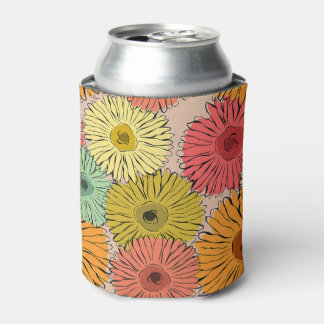 Colorful Flower Coozy Can Cooler