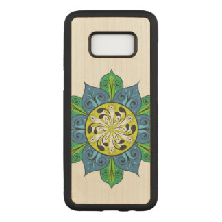 Colorful Flower Design Carved Samsung Galaxy S8 Case