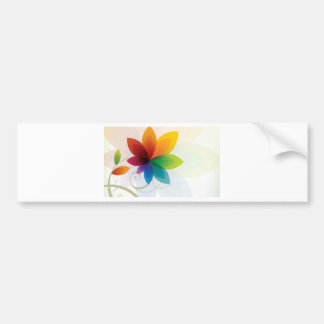 Colorful flower elements bumper stickers