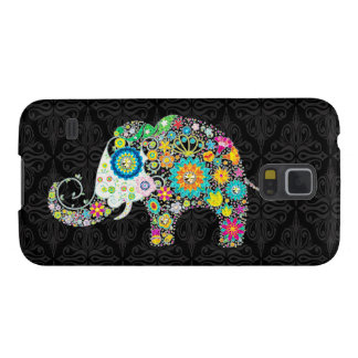 Colorful Flower Elephant Illustration Case For Galaxy S5