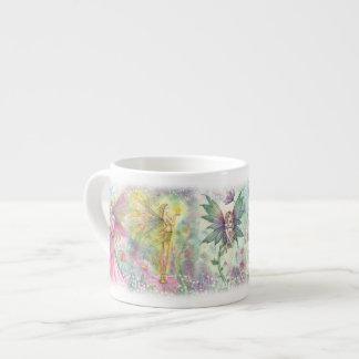 Colorful Flower Fairies Espresso Mug