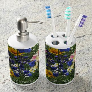 Colorful Flower Garden! Bathroom Set