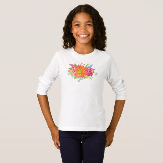 Colorful Flower Girls Design T-Shirt