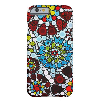 Colorful Flower Mosaic Circles Bubbles Design Barely There iPhone 6 Case