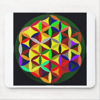 Colorful Flower Of Life Design Mouspads Mouse Pad