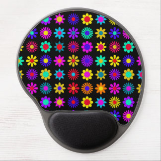 Colorful Flower Pattern Gel Mouse Pad