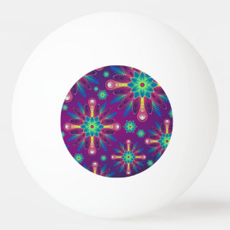 Colorful Flower pattern Ping Pong Ball