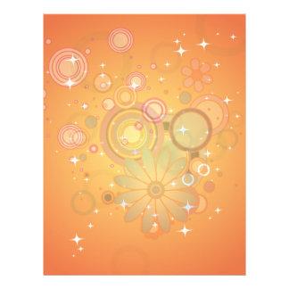Colorful Flower Pattern Vector Graphic 21.5 Cm X 28 Cm Flyer