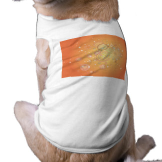 Colorful Flower Pattern Vector Graphic Pet Tee Shirt