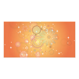 Colorful Flower Pattern Vector Graphic Personalized Photo Card