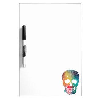 Colorful Flower Skull Dry Erase Board