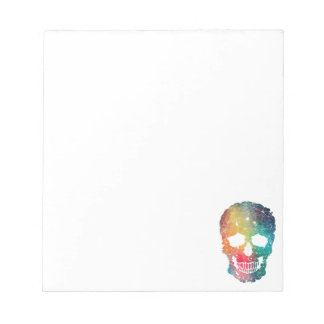 Colorful Flower Skull Notepad