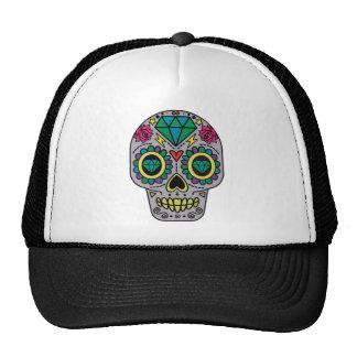 Colorful Flower Sugar Skull Cap