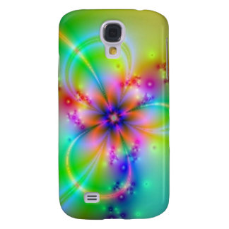 Colorful Flower With Ribbons Galaxy S4 Case