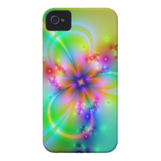 Colorful Flower With Ribbons iPhone 4 Cover