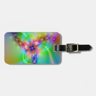 Colorful Flower With Ribbons Luggage Tag