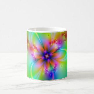 Colorful Flower With Ribbons Basic White Mug