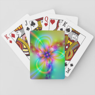 Colorful Flower With Ribbons Playing Cards