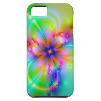 Colorful Flower With Ribbons Tough iPhone 5 Case