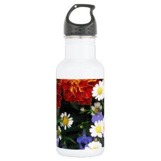 Colorful Flowerbed 532 Ml Water Bottle