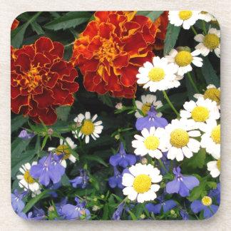 Colorful Flowerbed Beverage Coaster
