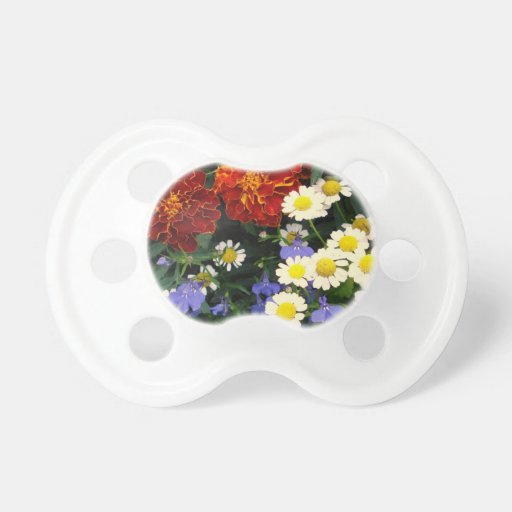 Colorful Flowerbed Pacifier