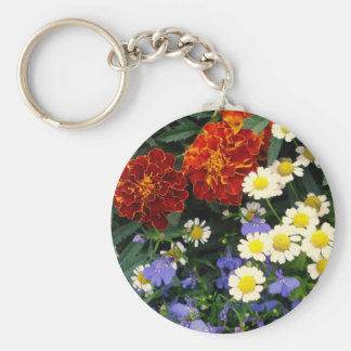 Colorful Flowerbed Key Chains
