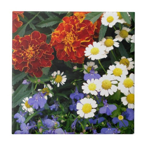 Colorful Flowerbed Tile