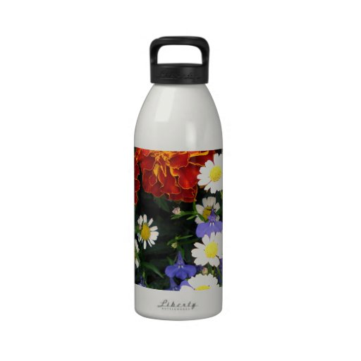 Colorful Flowerbed Water Bottles
