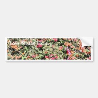 Colorful Flowering Bush Bumper Sticker
