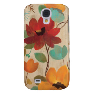Colorful Flowers and Buds Galaxy S4 Case
