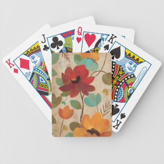 Colorful Flowers and Buds Poker Deck
