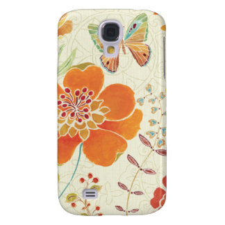 Colorful Flowers and Butterflies Galaxy S4 Case