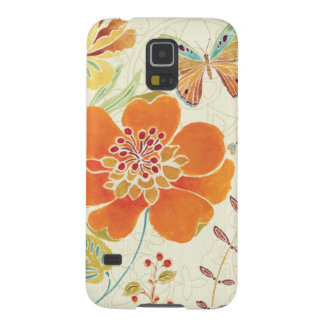Colorful Flowers and Butterflies Galaxy S5 Covers