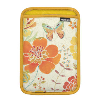 Colorful Flowers and Butterflies iPad Mini Sleeve