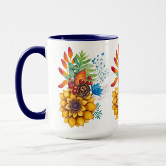 Colorful Flowers Bouquet Mug