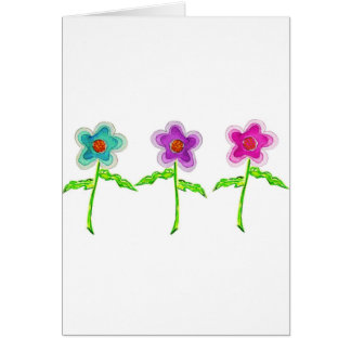 Colorful Flowers Greeting Card