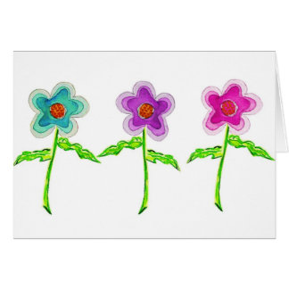 Colorful Flowers Card