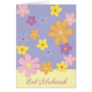 Colorful Flowers - Eid Mubarak Card